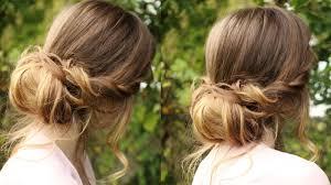 soft updo hairstyles chignon hairstyle tutorial soft updo braidsandstyles12 youtube