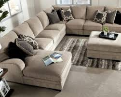 sofa beige and brown leather fabric sectional sofa with chaise