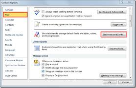 change default email font settings u0026 theme in outlook 2010