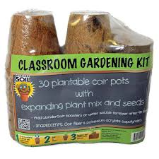 wonder soil classroom gardening kit with 30 pots coco wafers and