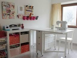 white diy craft table via palmettos along with craft tool storage