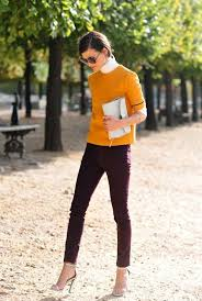 Plum Skinny Jeans 11 Wonderfully Unexpected Color Combinations To Wear Now White