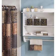 bathroom accessories design ideas amazon com designer jungle print savannah complete bath decor set