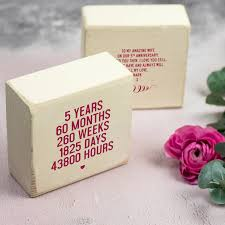 gift for 5 year anniversary personalised 5th anniversary wooden keepsake gift by delightful