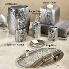 bath bath accessories brilliance mosaic silver gray bath