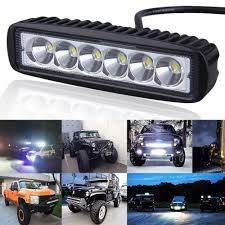 led work lights for trucks 6 inch 18w led light bar motorcycle offroad 4 4 atv daytime running
