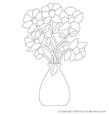 How To Design Flowers In A Vase Flower Vase Coloring Pages Exprimartdesign Com