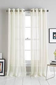 Long White Curtains Dkny Modern Soho Stripe Grommet Window Curtain Panel