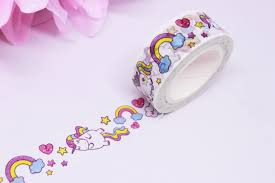 unicorn washi tape rainbow unicorn washi rainbow washi tape
