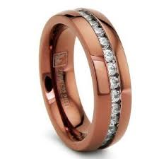chocolate wedding rings 6mm chocolate eternity stainless steel ring wedding band with cz