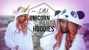 unicorn costume spirit halloween diy unicorn u0026 panda costume hoodies ann le youtube