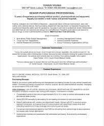 purchasing manager resume samples u0026 examples