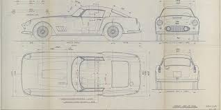 car ferrari drawing buy these classic ferrari 250gt daytona blueprints