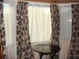bow window curtain ideas best house design interesting bay