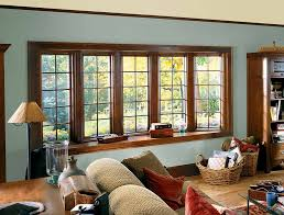 bay bow window photos renewal by andersen of des moines five unit bow window with wood interior casements and wood colonial grilles bow replacement windows
