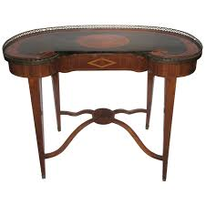 Antique Writing Table Antique Russian Style Inlaid Kidney Shaped Writing Desk For Sale