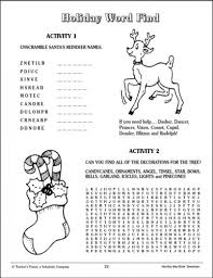 free printable reindeer activities holiday word find and word jumble parents scholastic com
