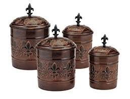 canister sets for kitchen 4 versailles canister set with fresh seal covers