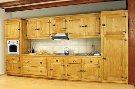 cuisine en pin meuble haut cuisine pin massif idée de modèle de cuisine