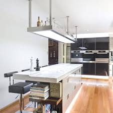Contemporary Kitchen Design With Marble Bar Tanle And Hangging