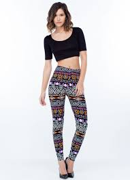 red patterned leggings black blue red grey floral and colorful patterned leggings outfit