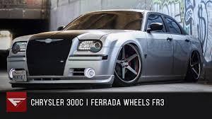 chrysler 300c black 2006 chrysler 300 bagged ferrada fr3 machine black chrome lip