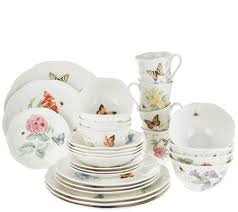 lenox butterfly meadow 28 porcelain dinnerware set page 1