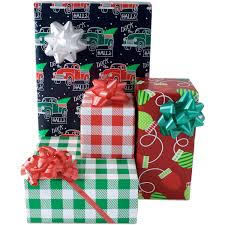 Gift Wrapping Accessories - christmas retro holiday gift wrap paper and accessories kit
