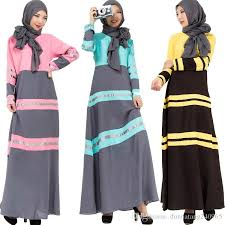 2017 2016 young ladies beautiful islamic clothing fashion patched