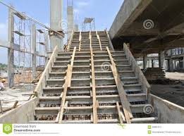 staircase formwork at the construction site stock image image