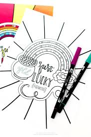 st patrick u0027s day rainbow coloring page