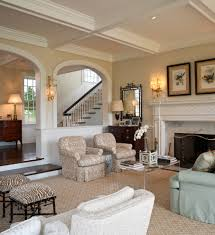 arched wall mirror living room contemporary with double iron front