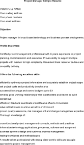 Example Resume Profile Statement Mainframe Project Manager Janitors Warehouse Best Resign Letter