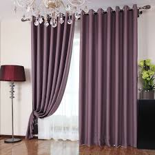 Purple Polka Dot Curtain Panels by Polyester Fabric Bedroom Romantic Purple Blackout Curtains Two
