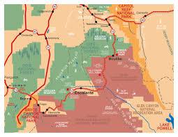 Utah National Parks Map Maps Escalante U0026 Boulder Utah