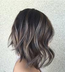 dark hair with grey streaks 60 best hairstyles for 2018 trendy hair cuts for women