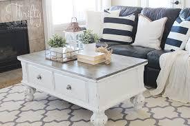 white farmhouse coffee table farmhouse style coffee table makeover before and after farmhouse