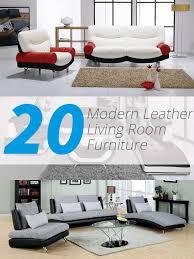 leather livingroom furniture 20 modern leather living room furniture home design lover