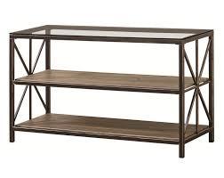 wood and metal sofa table black gold metal u0026 glass sofa table w wood shelves by coaster
