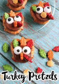 thanksgiving snacks for turkey pretzels thanksgiving