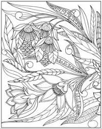 beautiful doodle art of a flamingo bird coloring page for adults