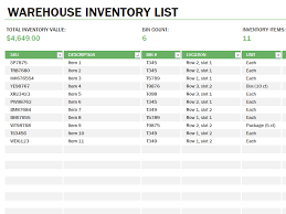 download warehouse inventory excel spreadsheet sample
