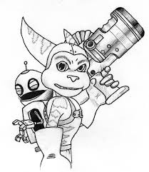 and clank printable coloring pages