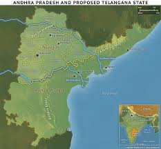 India River Map by Telangana Maps Political District Rivers Tourist Railways Etc