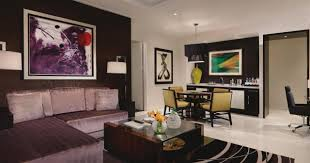 hotel and resort two bedroom aria suites las vegas living room