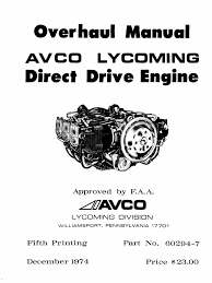 4746613 continental c75 c85 c90 o 200 engine overhaul manual