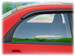 tape on outside mount window visors rain guards wind weather air