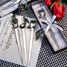 letter opener favors musical note letter opener favors wedding stuff and things
