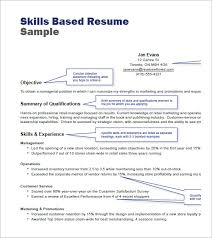 skill based resume template skill based resume 19 skills format nardellidesign
