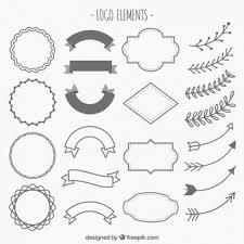logos ornaments vector free